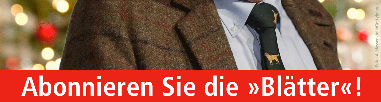 Blatter Fur Deutsche Und Internationale Politik Eine Insel Der