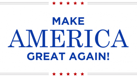 "Wahlkampfslogan Donald Trumps: ""Make America Great Again"""